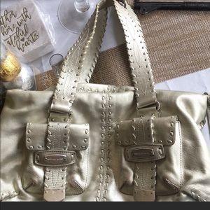 Michael Kors platinum metallic shoulder bag